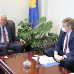 Kryetari Shala priti shefin e Eulex-it në Kosovë, Lars-Gunnar Wigemark